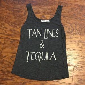 Tops - Brokedown Tanlines & Tequila Grey Tank Top